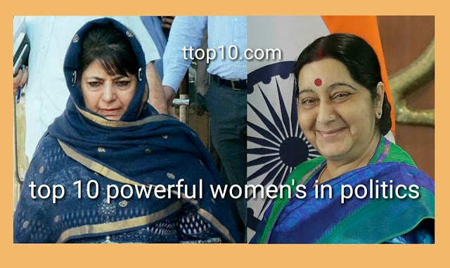 Top 10 powerful ladies in indian politics.........