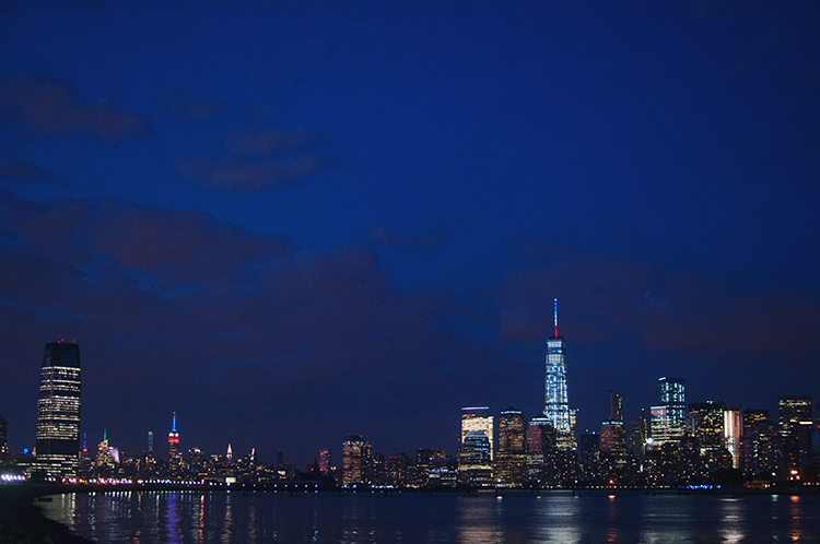 NYC skyline from New Jersey, Hudson River NYC skyline, LIberty State Park photography