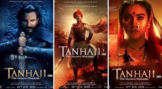 Tanhaji: The Unsung Warrior Movie 2020 Full HD download Tamilmv, Hindilinks4u, FilmyHit Bollywood movie, Songs, Download
