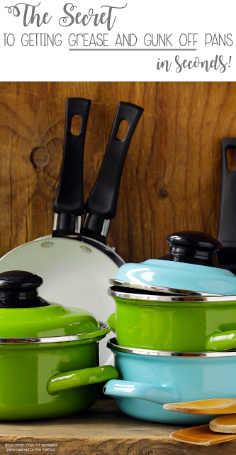 how to easily clean grease off pots and pans in seconds.