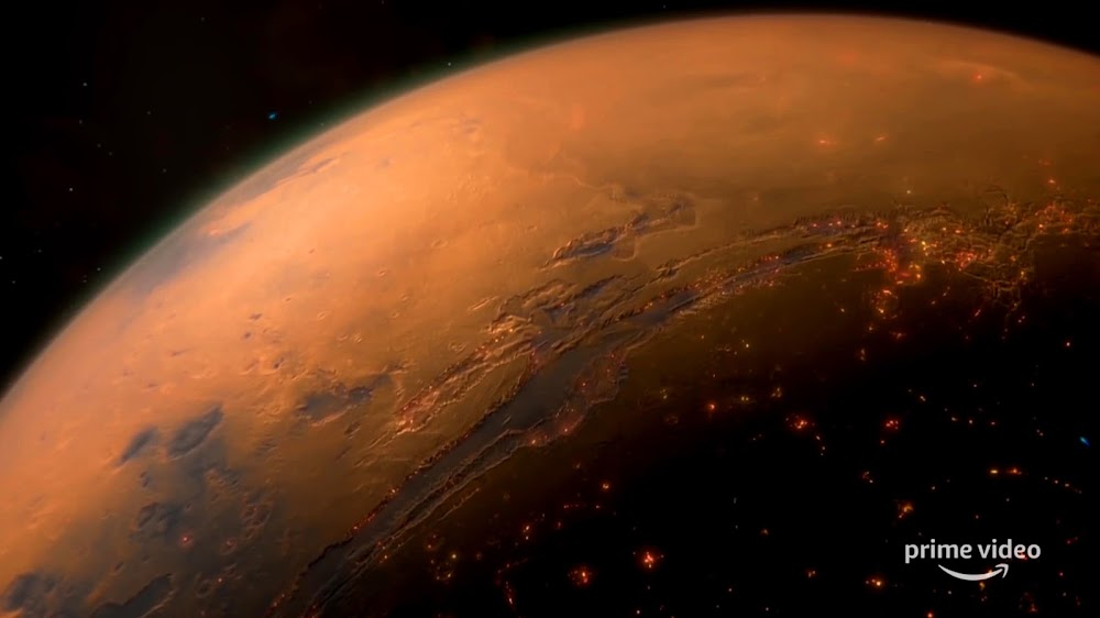 Human colonies in Valles Marineris region on Mars from season 4 teaser of The Expanse