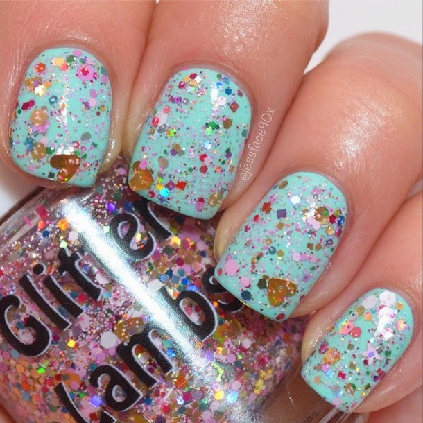 Pink Gingerbread House Glitter Lambs Nail Polish Swatched by JessFace90x