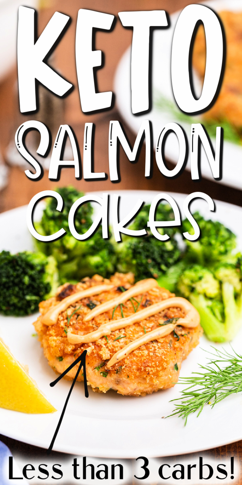 Keto Salmon Cakes (Salmon Patties) - These keto salmon cakes (salmon patties) are a delicious way to enjoy salmon. Packed with fresh salmon (no cans here) and fresh herbs, even the pickiest eater will love being low carb! #keto #lowcarb #glutenfree #salmon #fish #cake #patty #patties #easy #fresh #recipe