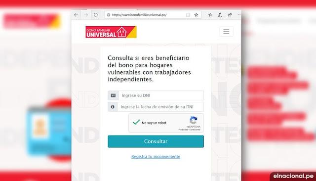 Consulta de Bono Familiar Universar 2020 Perú: consulta AQUÍ con tu DNI bono familiar emergencia de 760 soles