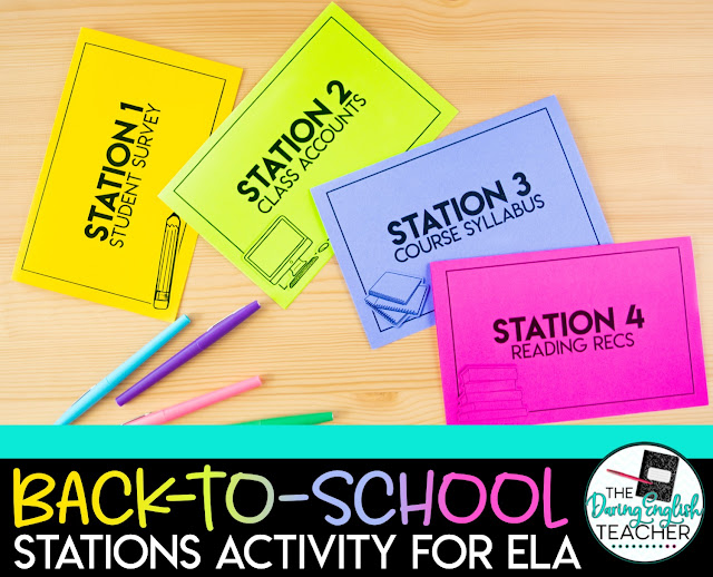 Back-to-School Stations for Secondary ELA: How I Use Stations in My High School Classroom