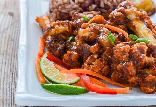 Jamaican Jerk Cauliflower #sidedish #vegetarian