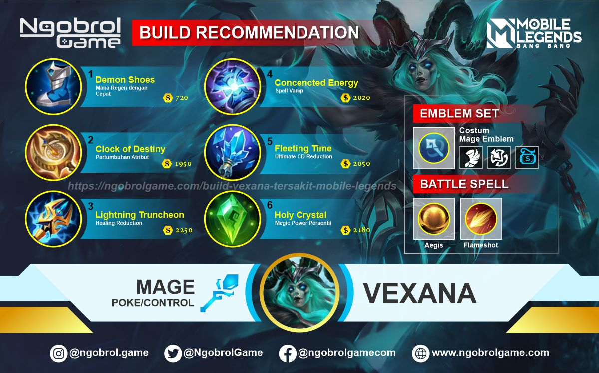 Build Vexana Top Global Tersakit Mobile Legends