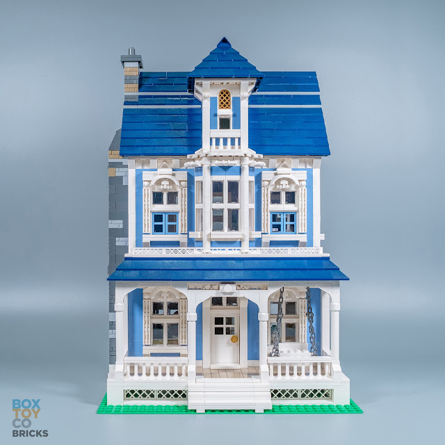 Lego moc victorian house boxtoy co for Modular victorian homes