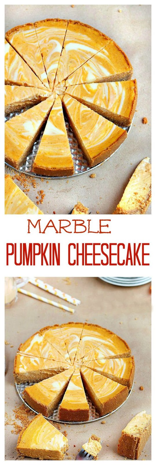 MARBLE PUMPKIN CHEESECAKE RECIPE