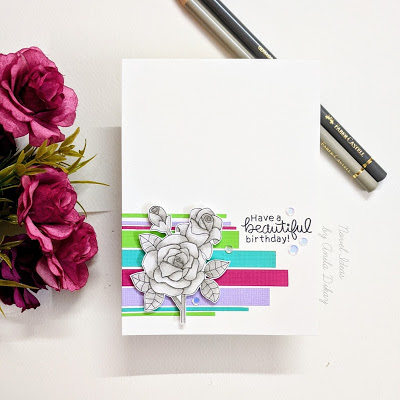 Have a beautiful birthday by Anila features Roses by Newton's Nook Designs; #inkypaws, #cardmaking, #newtonsnook
