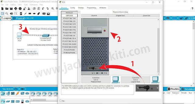 Memasang WLAN Card PC di Cisco Packet Tracer
