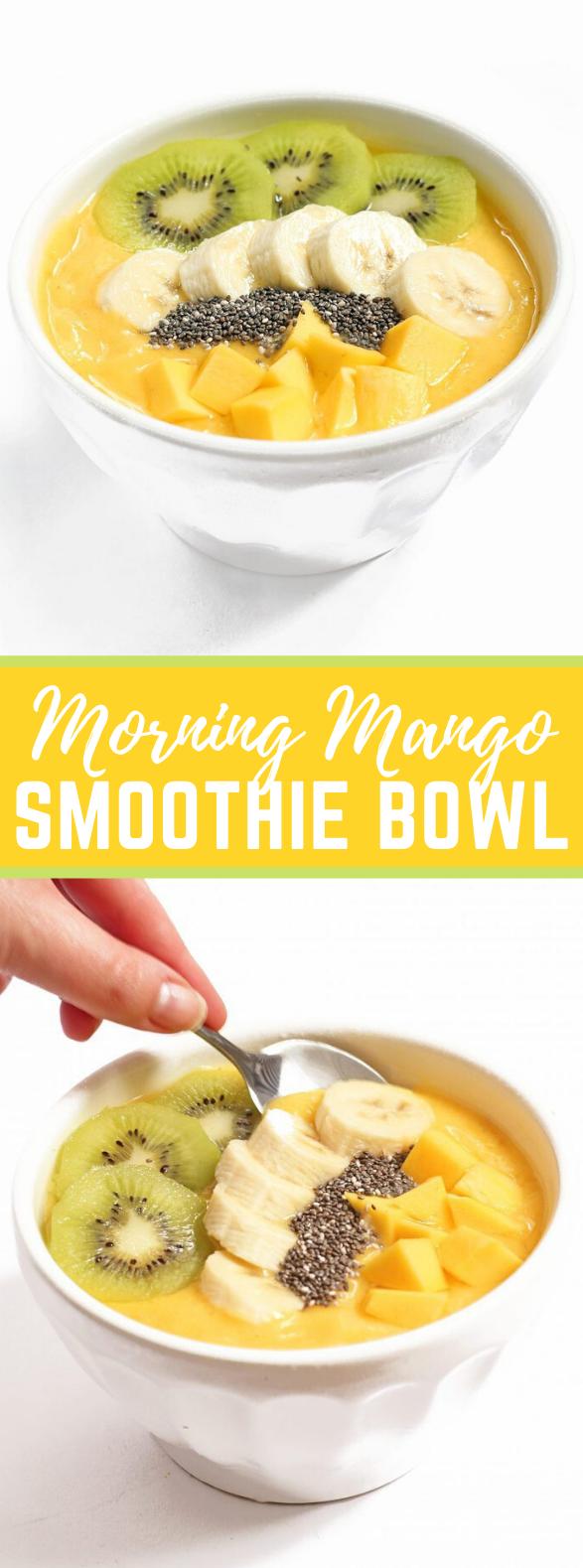Morning Mango Smoothie Bowl #healthy #breakfast