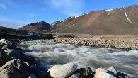 Λιωμένο νερό από πάγους στην Ισλανδία