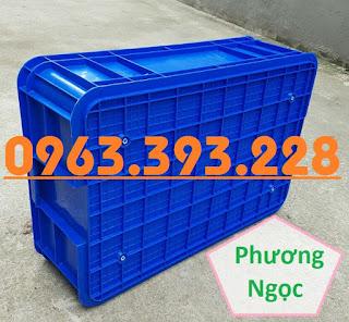 Thùng nhựa đựng linh kiện cao 19, hộp đựng nông sản, sóng nhựa bít HS003 308d50e50a16e848b107