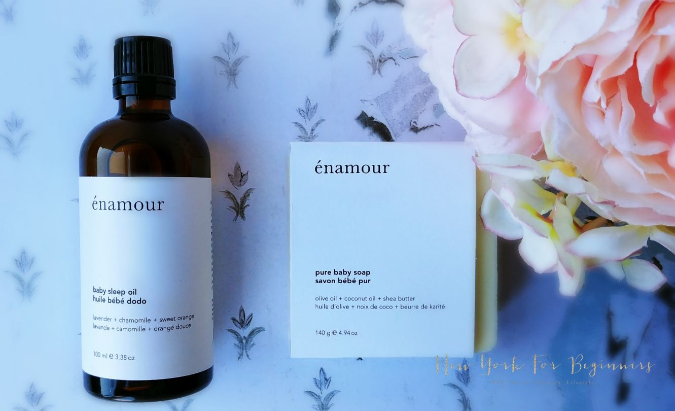 Review of enamour, organic skincare for babies made in Canada, at New York For Beginners