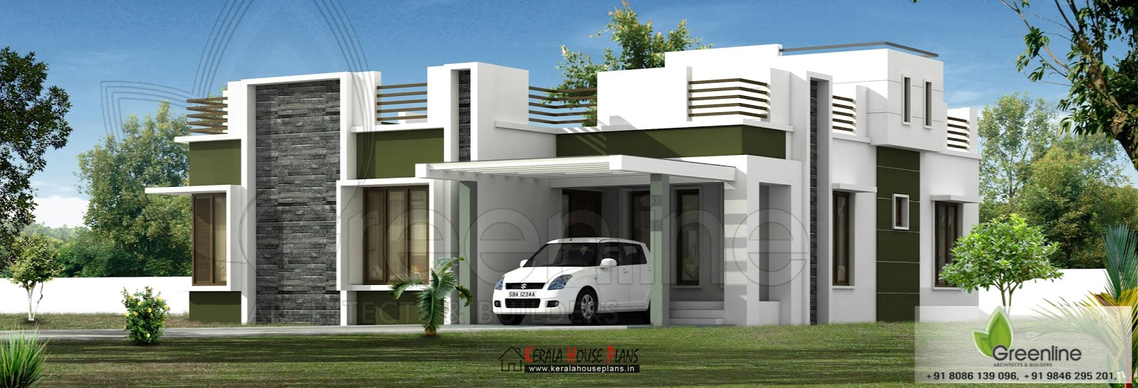 Low budget single floor house elevation