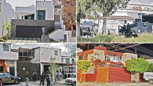 Estas son las casas de seguridad de El CJNG que tiene en Guadalajara llenas de plomo de las perforaciones a balazos