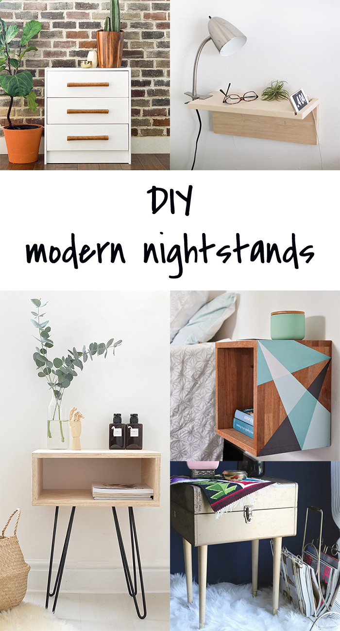 5 DIY to try # modern nightstands