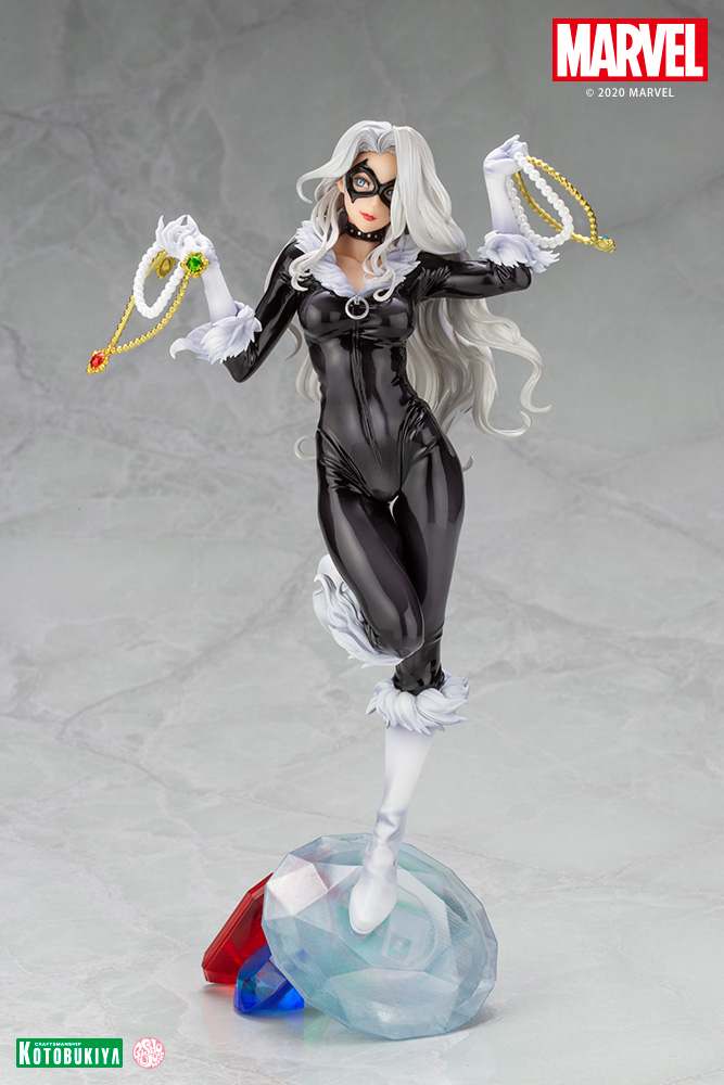 "Figuras: Nueva Bishoujo Black Cat: ""Steals Your Heart"" de Marvel Comics - Kotobukiya"