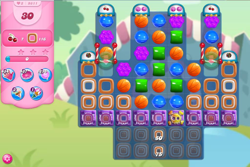 Candy Crush Saga level 9811