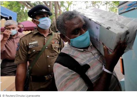 Sri Lanka goes to the polls as coronavirus hazard recedes