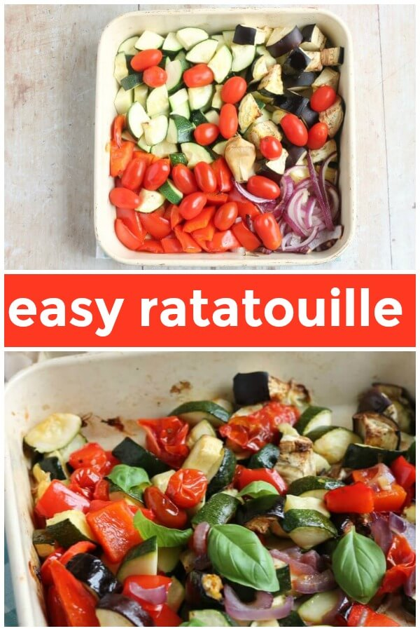 Easy Oven Baked Ratatouille Pin