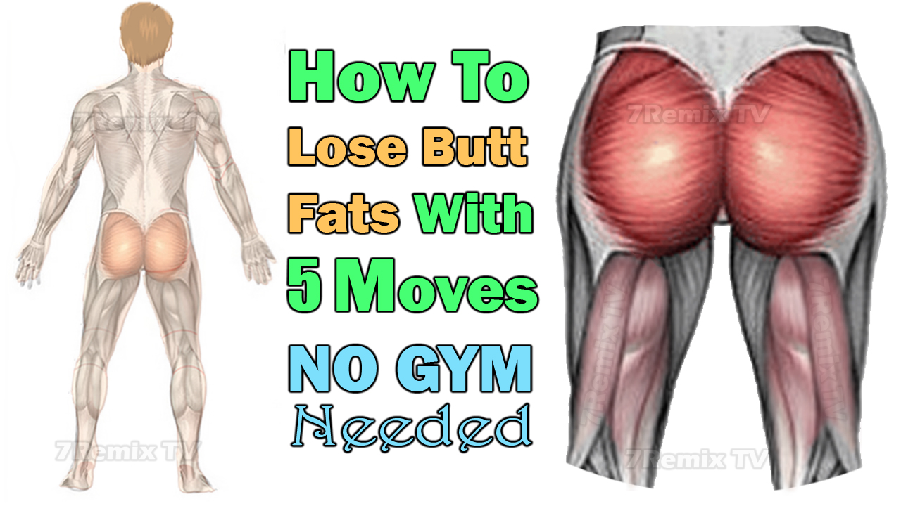 How to Lose Butt Fat for Men Easily with 10 Best Moves Anywhere, NO