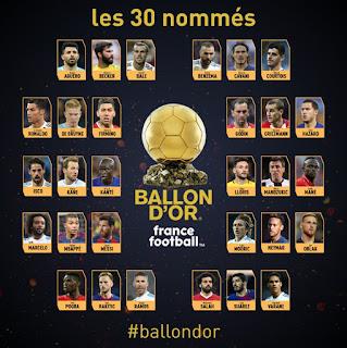 حفل الكرة الذهبية وأبرز المرشحينا لاعلان عن الاسماء الثلاثه المرشحين لجائزة الكره الذهبيه 2019