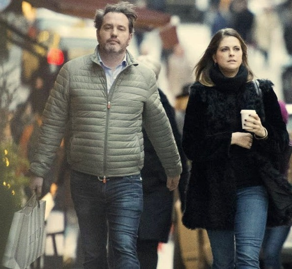 Princess Madeleine And Chris O'Neill Out Christmas Shopping