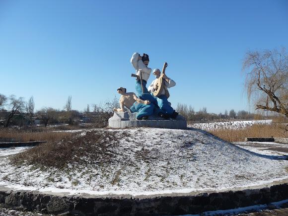 Селидово. Донецкая область. Украина. Памятник казакам