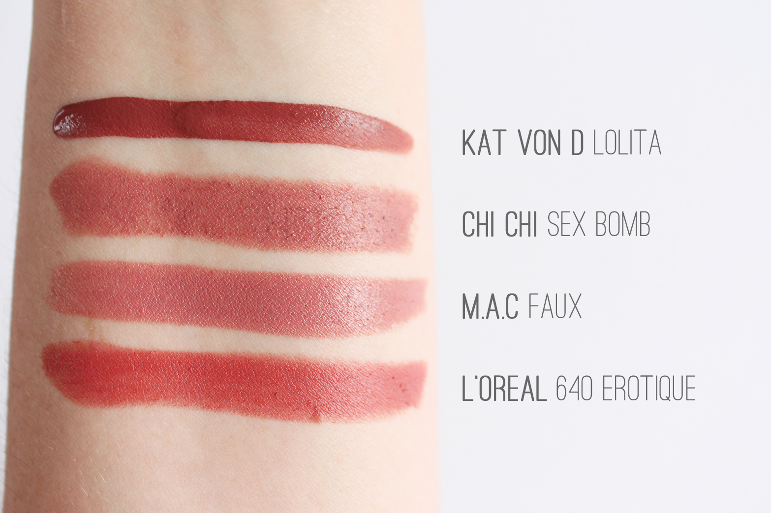 THINGS I LIKE #001 | Nude Lipsticks - Kat Von D, Chi Chi, M.A.C, L'Oreal - CassandraMyee