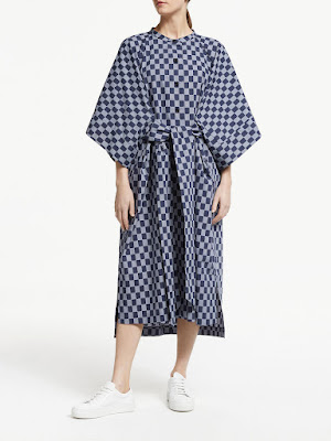ac9c2a9f5b This Seiji style from Kin adds a contemporary option to your wardrobe.  Designed from lightweight cotton, the check style print comes accompanied  by kimono ...