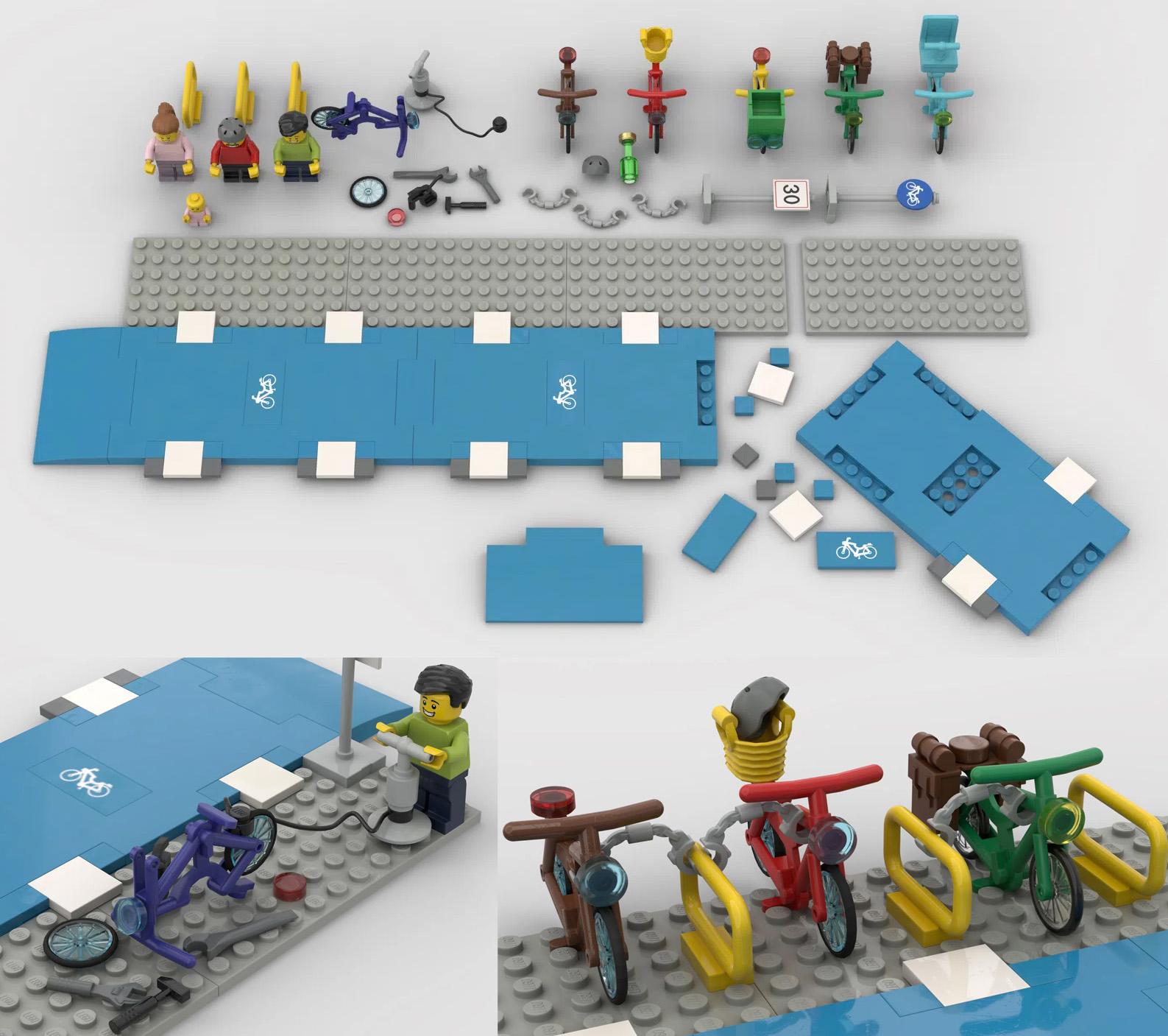 レゴアイデアで『自転車レーン』が製品化レビュー進出!2021年第1回1万サポート獲得デザイン紹介