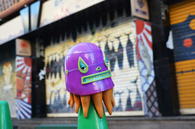 Purple Edition Lucha Squid Vinyl Figure by Germs x ToyQube