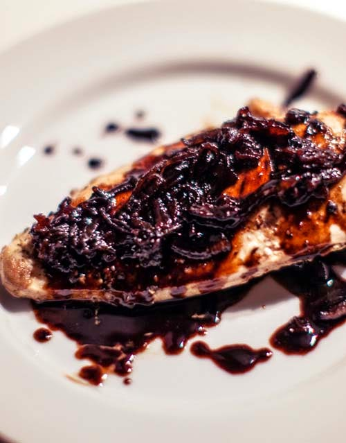Pan-fried Chicken Breast with Caramelized Onion