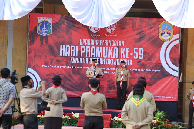 Peringati Hari Pramuka, Anies Berpesan Pramuka Jakarta Bantu Warga Lewati Masa Pandemi