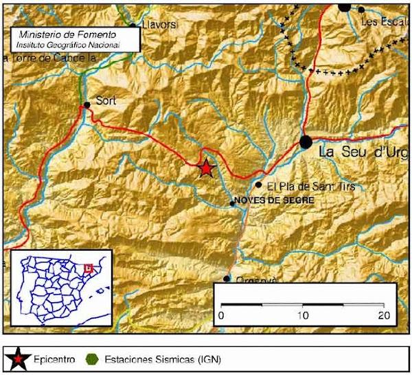 Decenas de micro-terremotos en Lleida 19 febrero