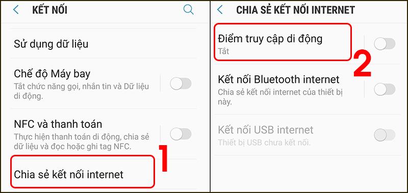 Cách phát WiFi từ điện thoại Android đơn giản