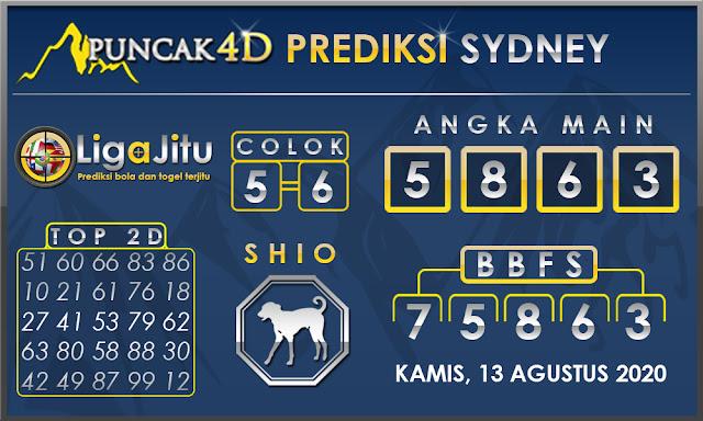 PREDIKSI TOGEL SYDNEY PUNCAK4D 13 AGUSTUS 2020
