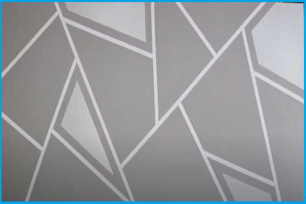 Simple Geometric Wall Design | With Tape