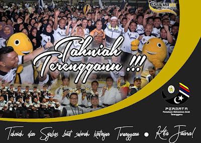 Tahniah Terengganu, Cemerlang Di SUKMA Ke-19 Perak 2018