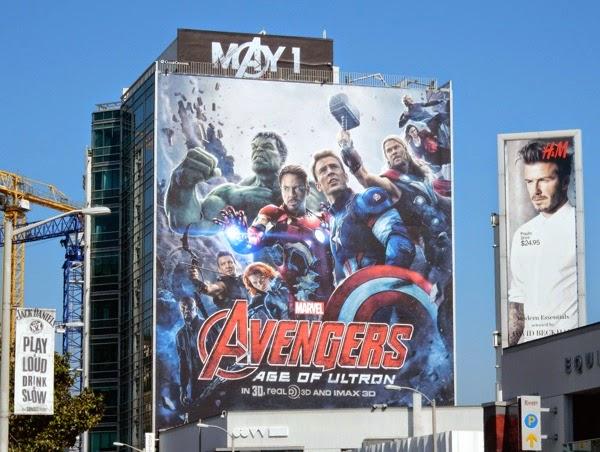 Giant Avengers Age of Ultron movie billboard