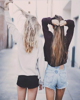 fotos tumblr de espaldas hermanas