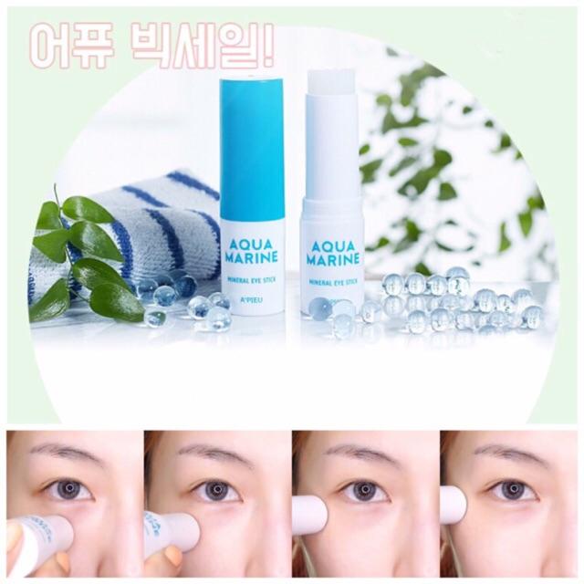 review hiệu quả Cảm nhận sử dụng thỏi trị thâm quầng mắt A'pieu Aqua Marine Mineral Eye Stick