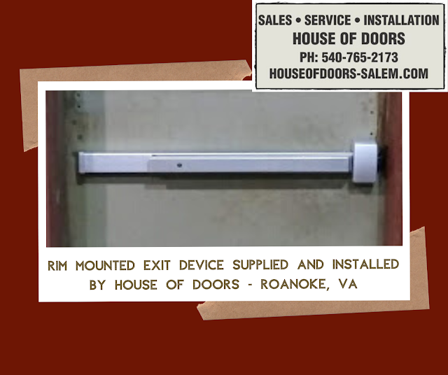 commercial hardware sold and installed by house of doors roanoke va
