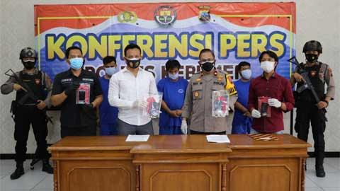 5 tersangka berhasil diamankan Sat Resnarkoba Polres Kebumen