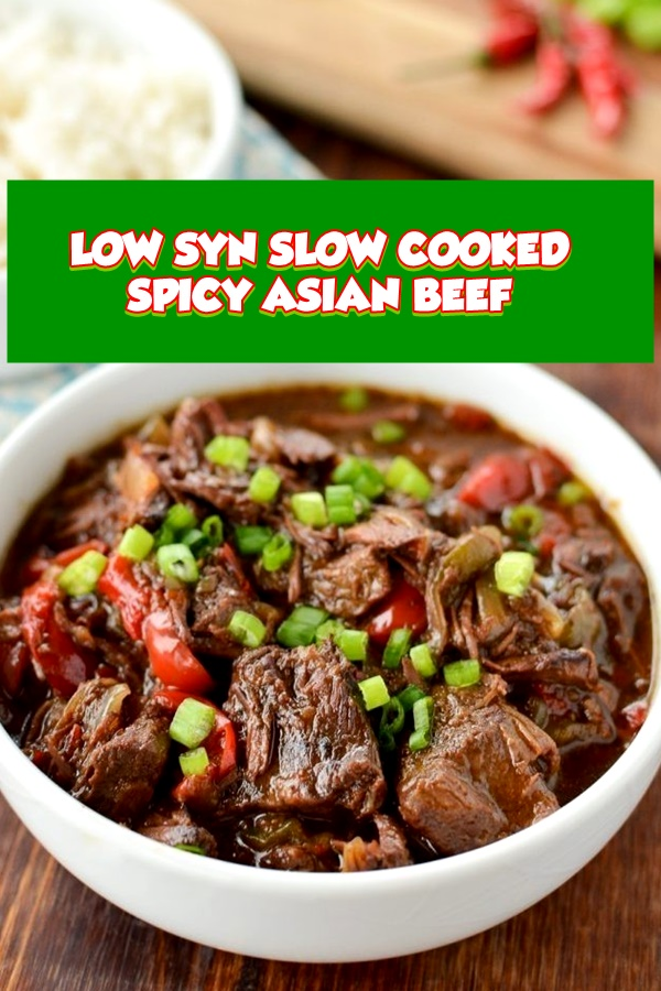 #LOW #SYN #SLOW #COOKED #SPICY #ASIAN #BEEF