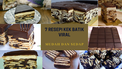 kek batik indulgence, kek batik viral, kek batik mudah dan sedap
