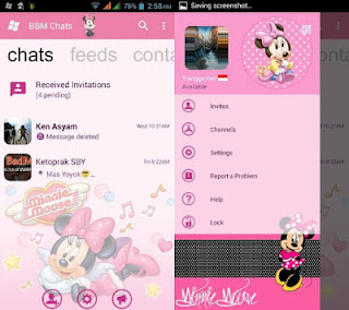 Download BBM MOD Minnie Mouse Smooth Pink APK V3.0.1.25