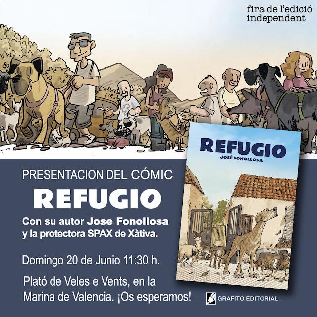 Primera presentación del cómic REFUGIO en Valencia.
